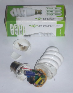 Ecobulb and original packaging.