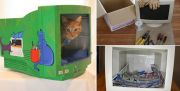 DIY Cat Bed From a Computer Monitor   Home Design, Garden & Architecture Blog Magazine